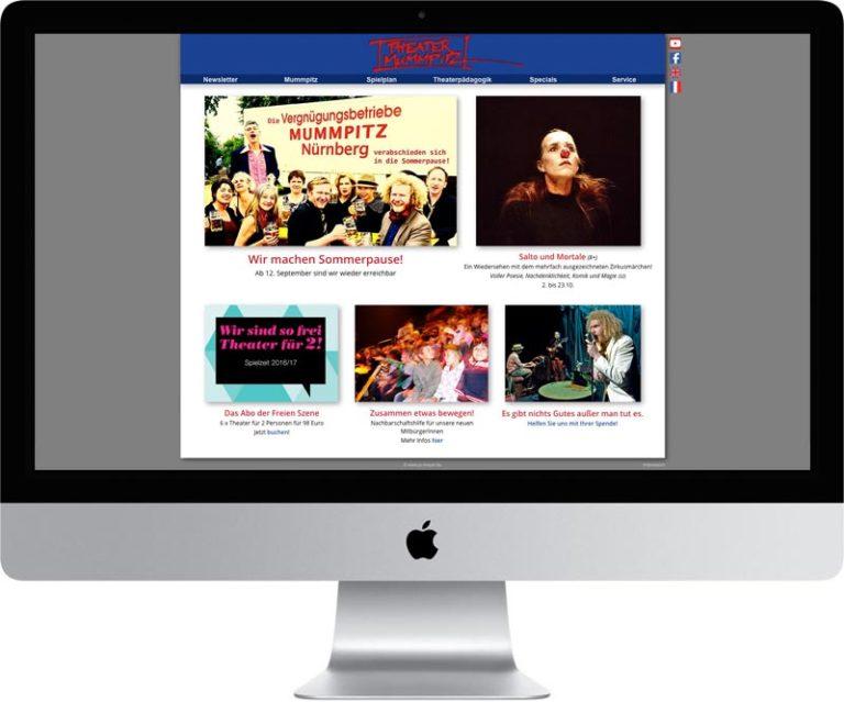 Webseite Theater Mummpitz