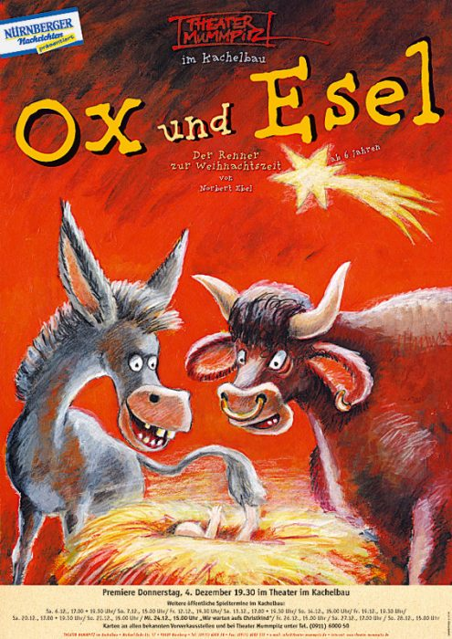 Plakat Ox und Esel